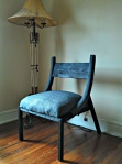 Custom Arc Chair with Upholstered Arms